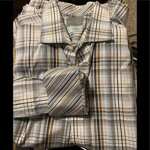 Thomas Dean Men's button down shirt